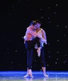 恋人中国样式芭蕾舞蹈 图库摄影
