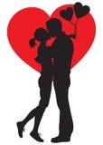 恋人亲吻的夫妇 库存图片
