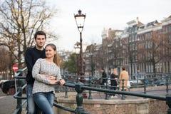 恋人在阿姆斯特丹 库存照片