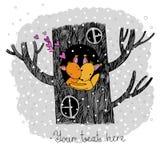 恋人灰鼠 大美丽的树 免版税库存照片