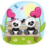 恋人熊猫 向量例证
