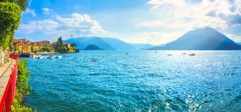 恋人瓦伦纳步行, Como湖区风景 意大利,欧洲 库存照片