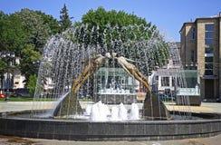 恋人的亲吻的纪念碑(或纪念碑)在哈尔科夫,乌克兰 库存照片