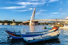 恋人的桥梁,淡水渔人码头,台北,台湾 免版税库存图片