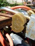 恋人的锁 库存照片