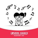恋人舞蹈 库存图片