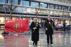 恐怖分子行动地方在柏林2016年12月的19日 库存照片