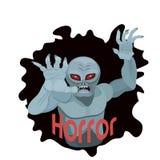 恐怖和恶梦的Zombiev ampire 向量例证
