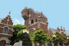 恐怖塔在东京迪士尼海洋游乐园的 库存照片
