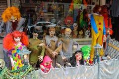 恐怖晚礼服和纪念品在中心阿姆斯特丹 库存图片