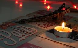 恐怖的标志在巴黎 免版税库存照片