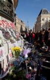 巴黎恐怖袭击2015年11月 免版税库存图片