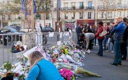 巴黎恐怖袭击2015年11月 库存照片
