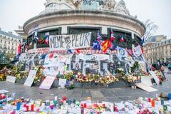 巴黎恐怖袭击记忆 图库摄影