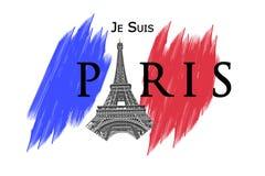 巴黎恐怖袭击 免版税库存照片