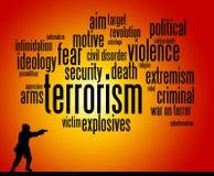 恐怖主义 库存例证