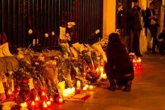 巴黎恐怖主义攻击 库存图片