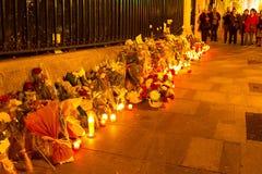 巴黎恐怖主义攻击 库存照片