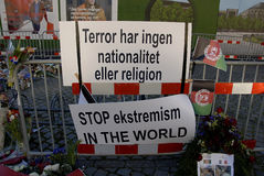 巴黎恐怖ATTACKED_FRENC MEBASSY在哥本哈根 库存图片