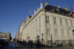 巴黎恐怖ATTACKED_FRENC MEBASSY在哥本哈根 库存照片