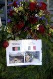巴黎恐怖ATTACKED_FRENC MEBASSY在哥本哈根 免版税库存图片