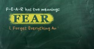恐惧首字母缩略词概念 股票录像