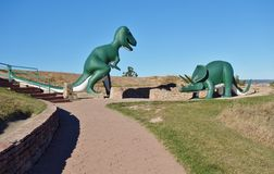 恐龙公园在拉皮德城,南达科他 库存照片
