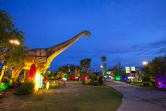 恐龙公园在泰国 免版税库存图片