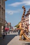 恐龙在老镇拜罗伊特 库存照片