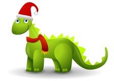 恐龙帽子圣诞老人 图库摄影