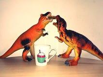 恐龙早餐 免版税库存图片