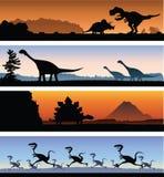 恐龙横幅 免版税库存图片