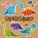 恐龙的不同的类型 向量例证