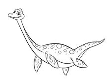 恐龙着色页 免版税库存照片