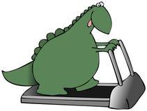 恐龙踏车 向量例证