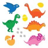 恐龙集合 库存图片