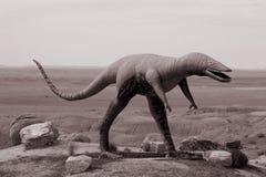 恐龙雕塑 库存图片