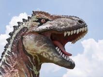恐龙雕象在主题乐园 免版税库存图片