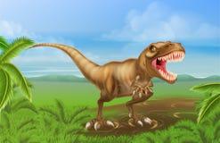 恐龙雷克斯恐龙 免版税库存照片