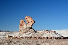 恐龙顶头岩层 瓦尔de la月/月球或月亮谷 San Pedro de Atacama 智利 库存图片