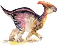 恐龙 恐龙水彩图画 恐龙例证 向量例证