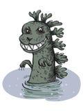 恐龙从水涌现 免版税图库摄影