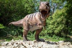 恐龙暴龙雷克斯现实模型  库存照片