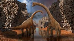 恐龙3D回报 库存图片
