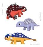 恐龙Ankylosaurids传染媒介例证 免版税库存图片