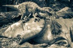 恐龙Deinonychus现实模型  免版税库存照片