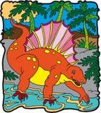 恐龙edafosauro 库存照片