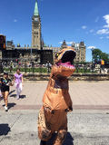 恐龙exhiibit促进在渥太华 免版税库存图片