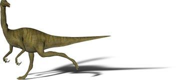 恐龙gallimimus 图库摄影