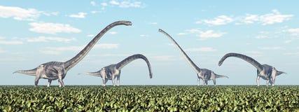 恐龙Omeisaurus 图库摄影